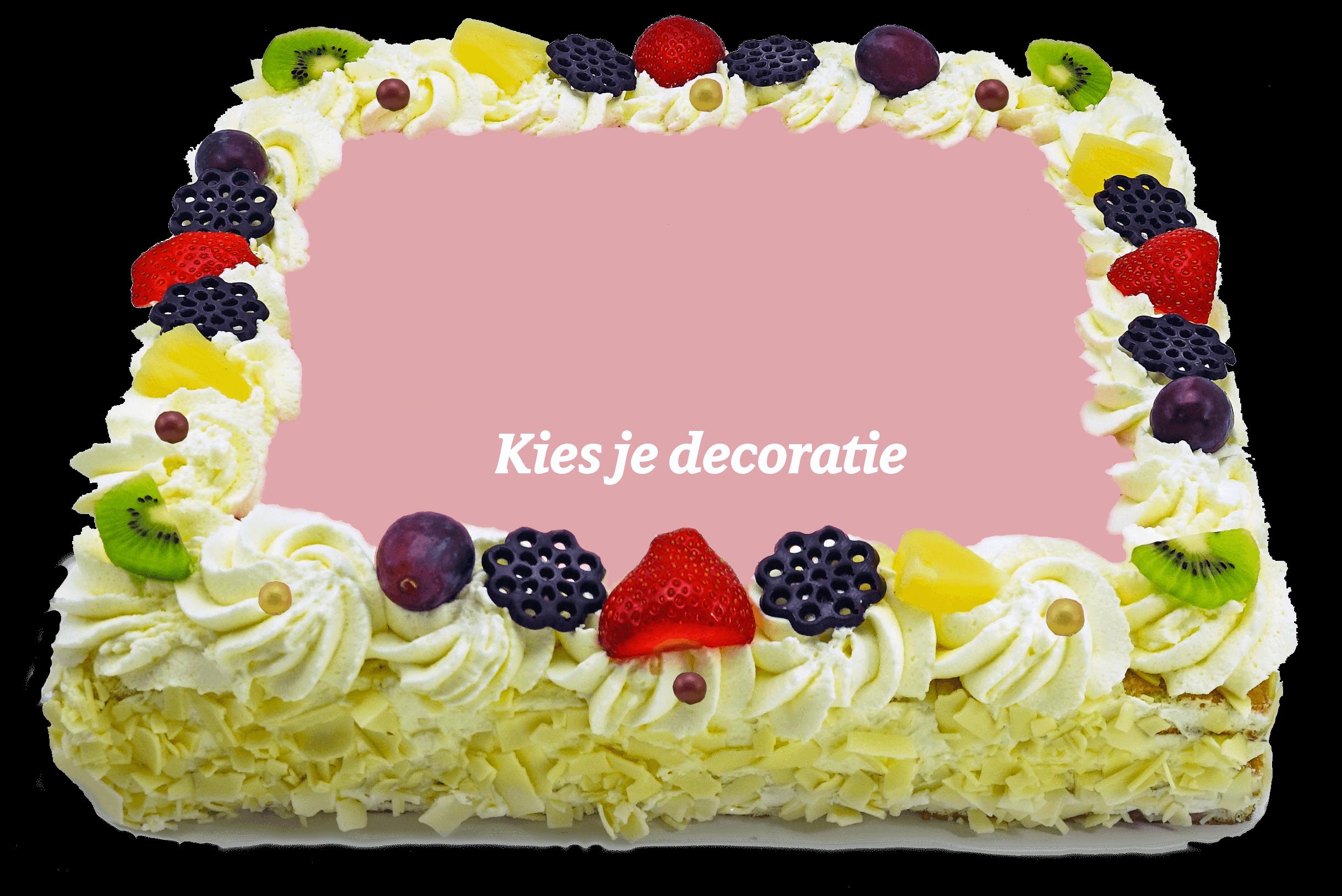 Decoratie taart bakkerij kwakman