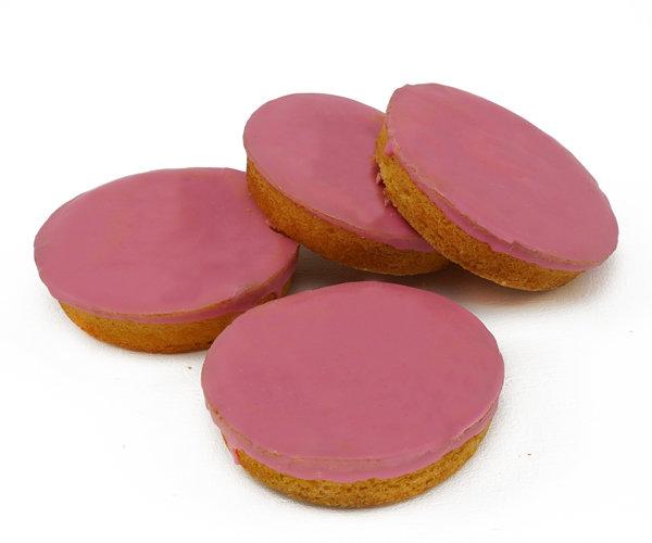 Roze koeken (per 4 verpakt) - bakkerijkwakman.nl