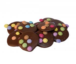 Melk chocolade flikken met smarties Bakkerij Kwakman