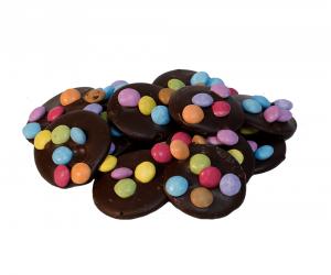 Pure chocolade flikken met smarties Bakkerij Kwakman